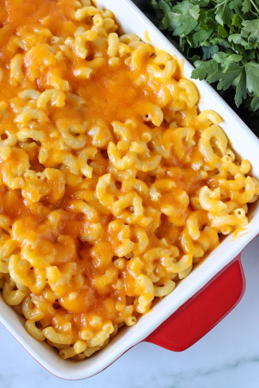 melted cheesy macaroni and cheese