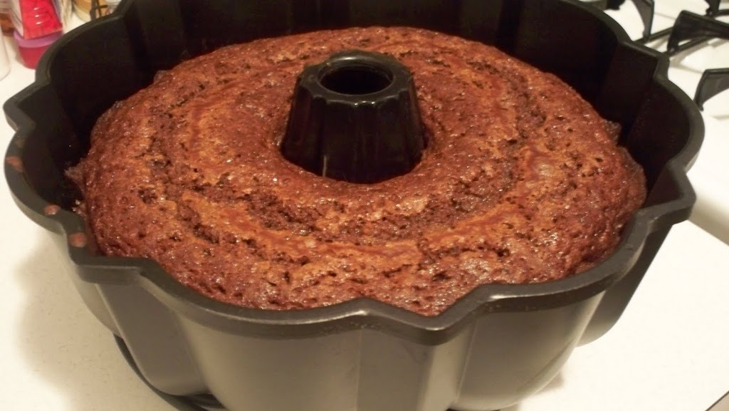 Chocolate Chip Pistachio Pudding Cake