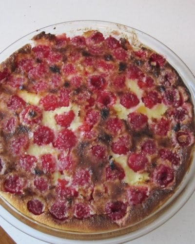 Baked Raspberry Custard » Persnickety Plates