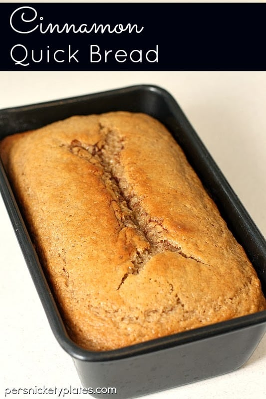 Cinnamon Quick Bread - a year round favorite! | Persnickety Plates
