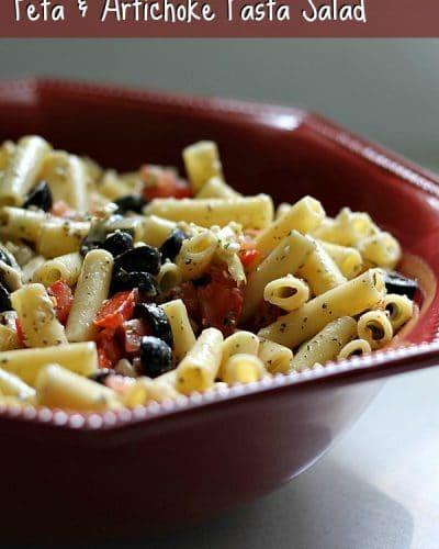 Feta and Artichoke Pasta Salad | Persnickety Plates