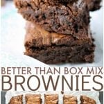 """Why make a box mix brownies when I'll bet you have everything on hand to make these? They really are """"Better Than Box Mix"""" brownies! 