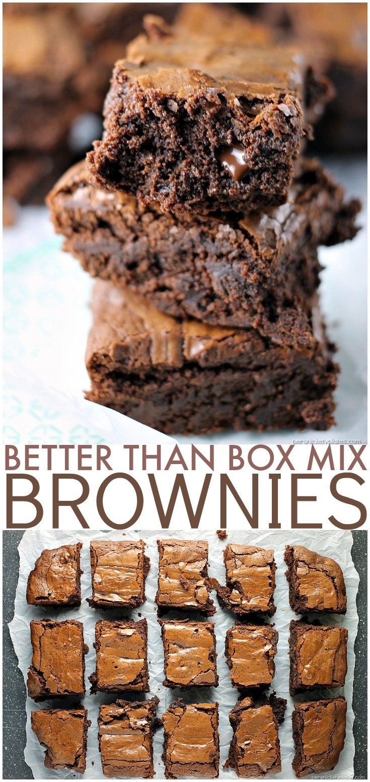 Why make a box mix brownies when I'll bet you have everything on hand to make these? They really are