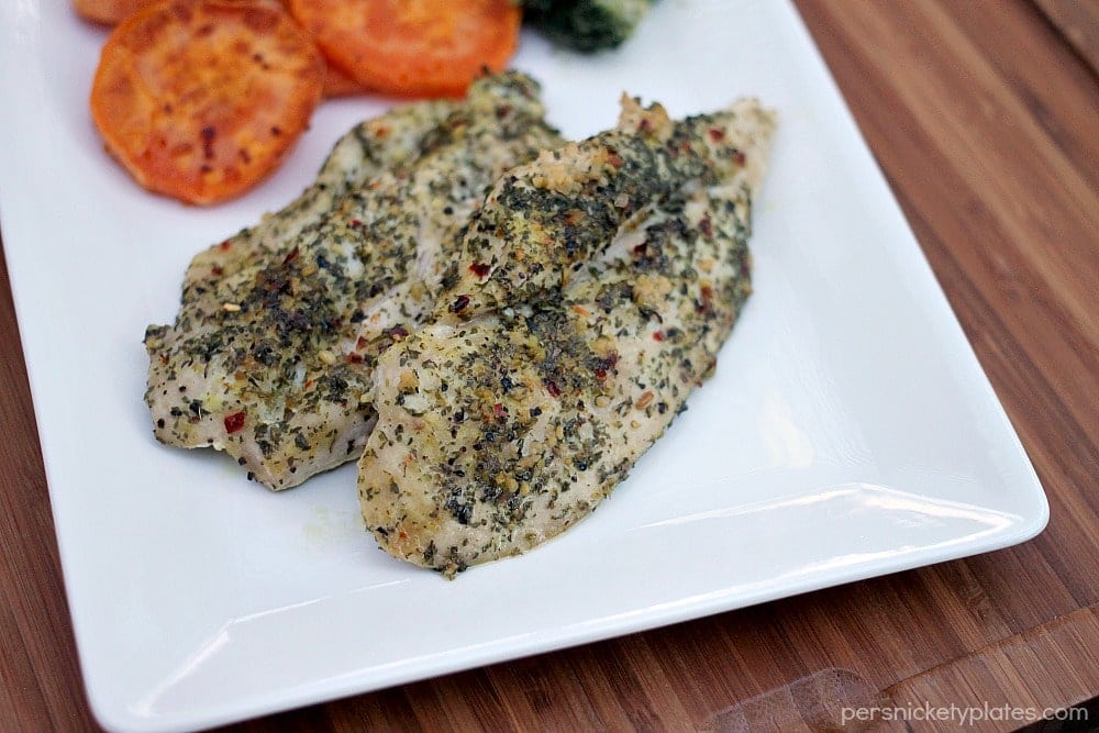 Baked Chicken with Garlic, Basil, and Parsley | Persnickety Plates