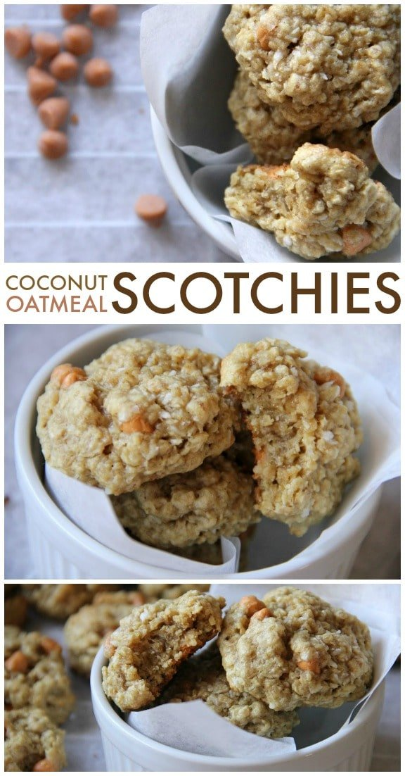 Coconut Oatmeal Scotchies are perfectly chewy yet soft ...