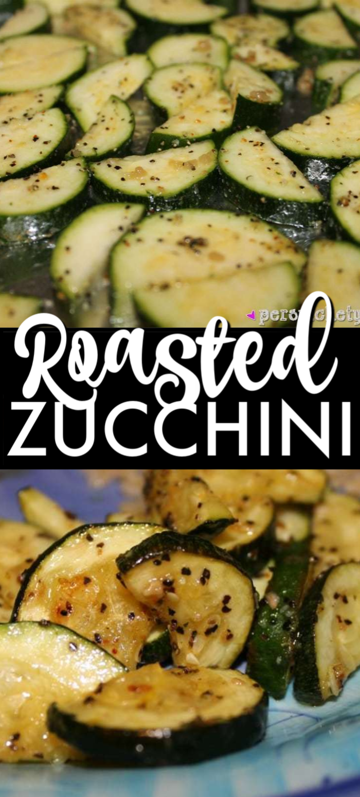 Sometimes simple is best – roasted zucchini is one of my favorites side dishes and a great way to use up your summer zucchini crop!