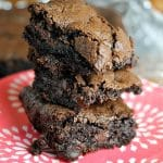 Super simple homemade brownie recipe that makes rich, chocolatey brownies with a perfect flaky crust   Persnickety Plates