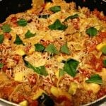 Turkey Veggie Skillet Lasagna