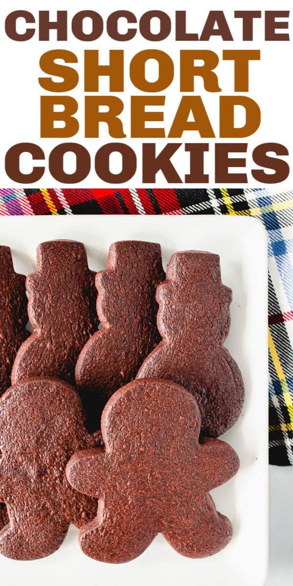 Chocolate Shortbread Cookies are chocolaty, buttery and are perfect for rolling out and cutting into shapes. A simple, six ingredient, cookie that quickly disappears!  | www.persnicketyplates.com