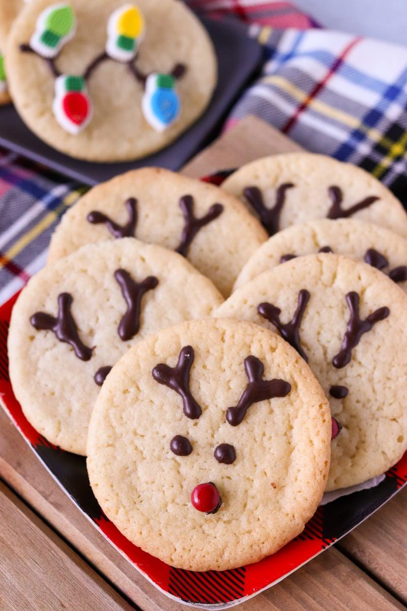 platter of reindeer cookies