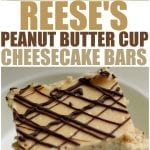 Reese's Peanut Butter Cup Cheesecake Bars - stuffing peanut butter cups into cheesecake bars then drizzling them with chocolate is always a good idea!   www.persnicketyplates.com
