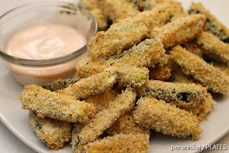 Baked Zucchini Fries | Persnickety Plates