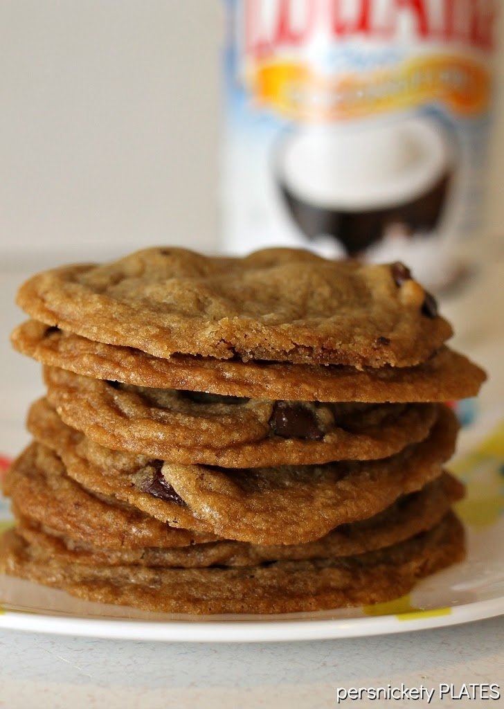 Coconut Oil Dark Chocolate Chip Cookies are easily one of my top 10 favorite cookies!