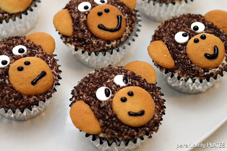 Monkey Face Cupcakes Monkey Cupcakes | Persnickety