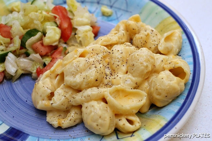 Creamy Stovetop Macaroni & Cheese is so much better than the box! | Persnickety Plates