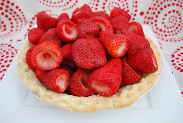 berries in the pie shell