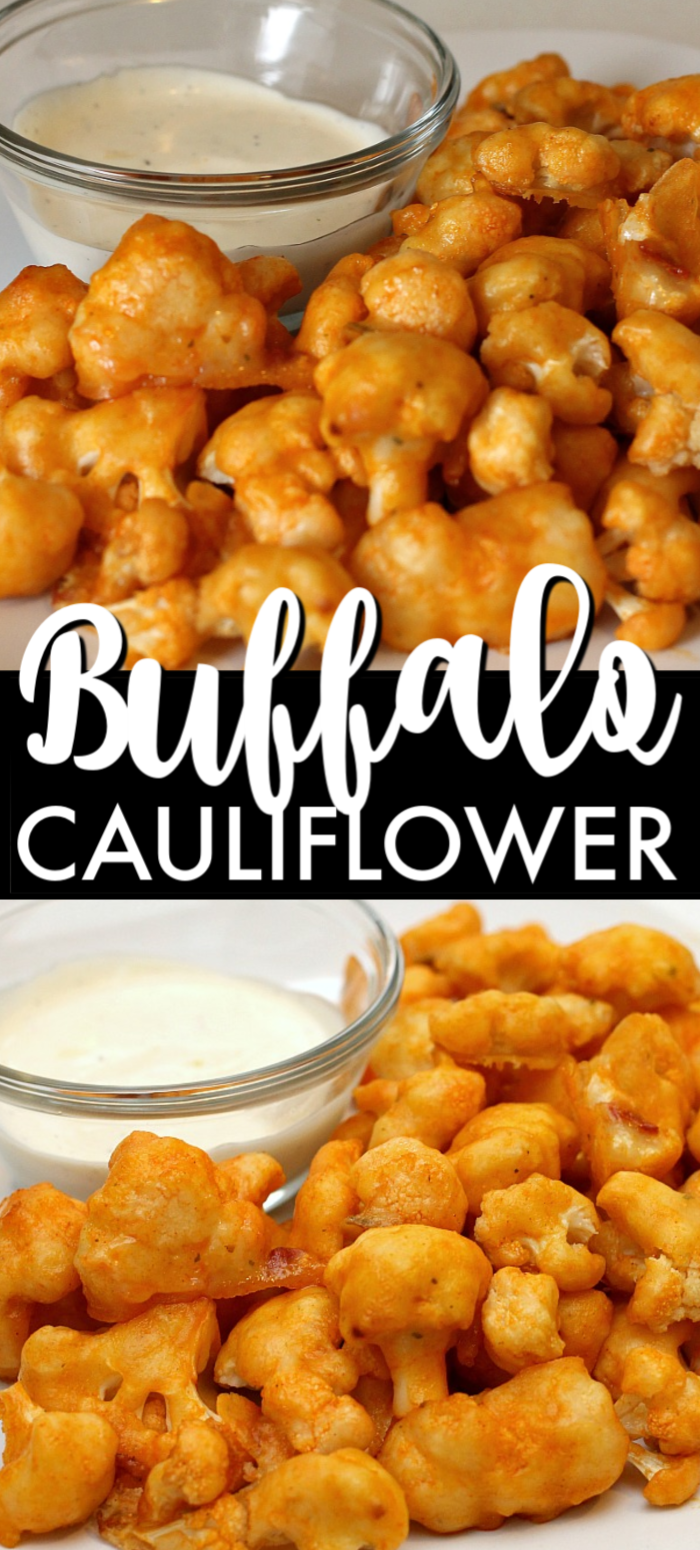 A spicy, healthy, vegetarian, delicious alternative to chicken wings, these cauliflower buffalo wings have been pinned over 600K times because they're that good! | www.persnicketyplates.com #cauliflower #vegetarian #buffalocauliflower #wings #gamedayfood #appetizer #easyrecipe #sidedish #vegetable