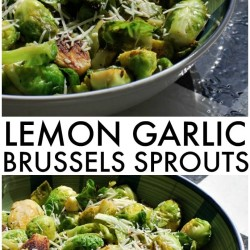 Lemon Garlic Brussels Sprouts - If you've never tried Brussels Sprouts, or think you don't like them, give this recipe a try - the lemon garlic makes them so tasty! | www.persnicketyplates.com