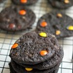 Dark Chocolate Reese's Pieces Heath PB Chip Cookies