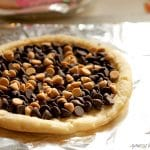 Chocolate & Peanut Butter Dessert Pizza
