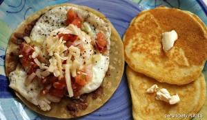 Persnickety Plates: Huevos Rancheros & Pancakes #breakfastafterdark