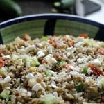 Lentils with Brown Rice & Veggies