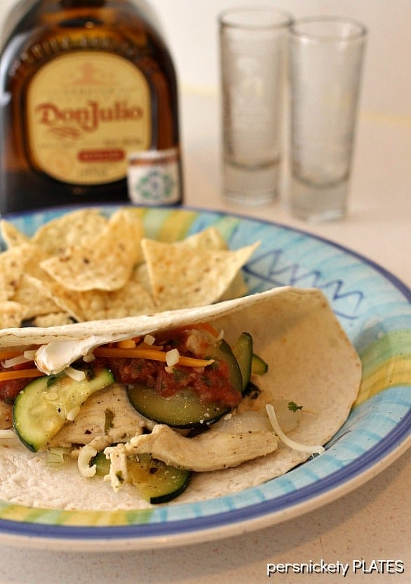 Tequila Lime Chicken Fajitas | Persnickety Plates