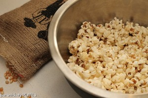 Coconut Oil Popcorn {Persnickety Plates}