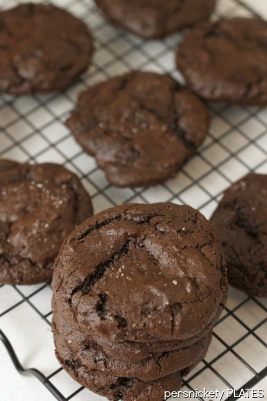 Olive Oil and Sea Salt Brownie Cookies taste so rich and fudgey, like a chewy brownie should!
