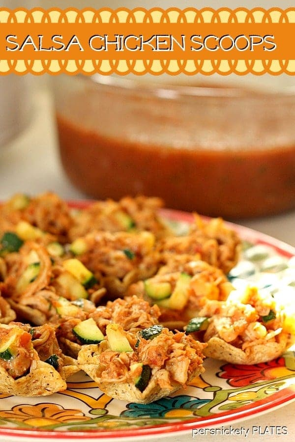 Salsa Chicken Scoops with Zucchini