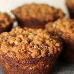 Chocolate Zucchini Muffins with Reese's Cups
