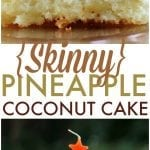 Skinny Pineapple Coconut Cake - four ingredients, one bowl, one spoon and you're on your way to this delicious cake! | Persnickety Plates