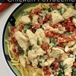 Sun Dried Tomato & Basil Chicken Fettuccine