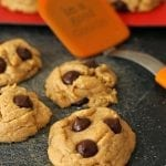 Soft Baked Peanut Butter Cookies with Dark Chocolate Chips