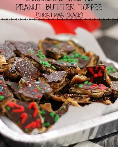 """This Chocolate Saltine Peanut Butter Toffee is so easy to make and so addictive, you'll quickly see why it's called """"Christmas Crack"""". 