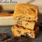 Dark Chocolate Covered Pretzel Cookie Bars