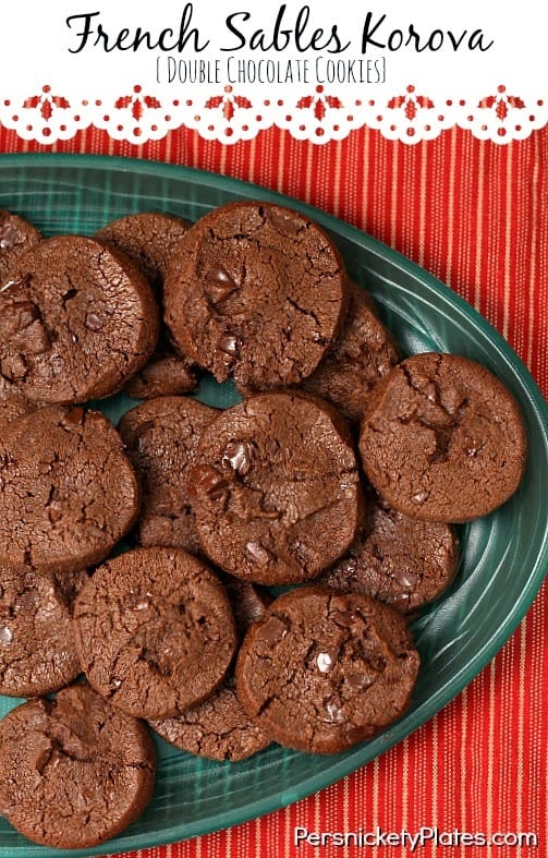 French Sables Korova {Double Chocolate Cookies} | Persnickety Plates