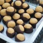 tray of peanut butter balls