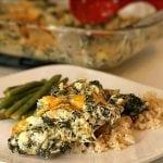 Spinach & Artichoke Dip Chicken Casserole
