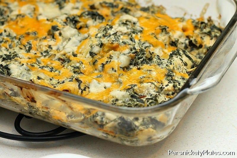 Spinach and Artichoke Dip Chicken Casserole..