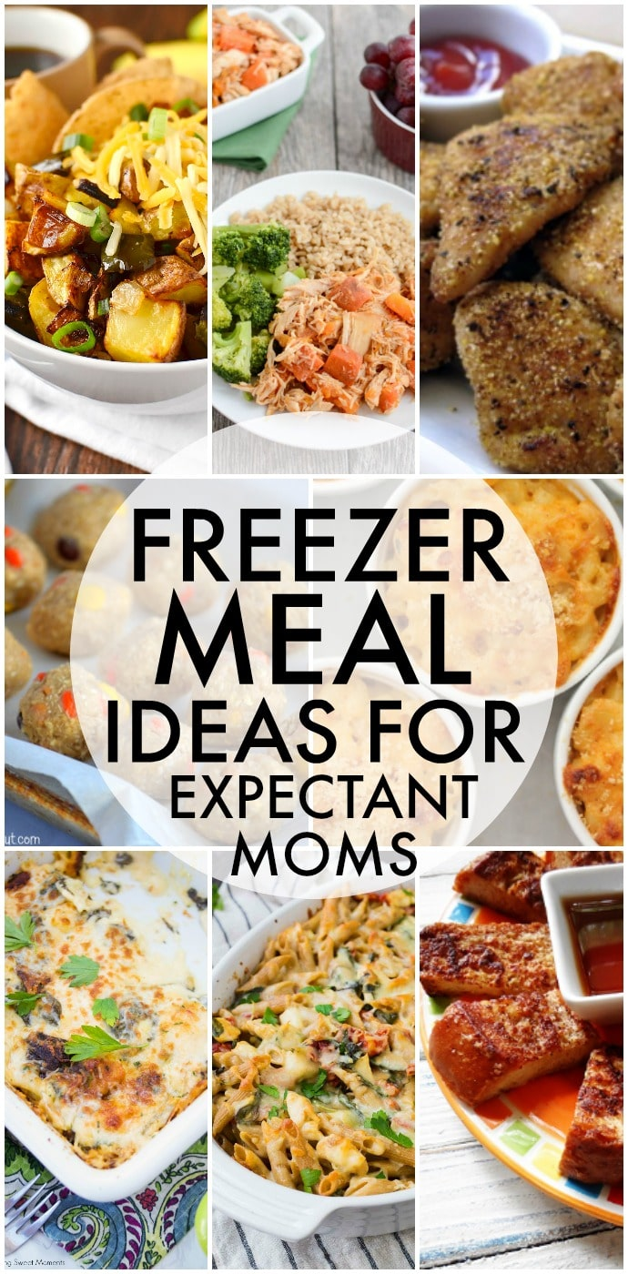 A collection of freezer meal ideas for expectant moms - everything from breakfast to dessert to help stock the freezer for those busy first months. | www.persnicketyplates.com
