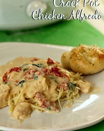 Slow Cooker Chicken Alfredo | Persnickety Plates