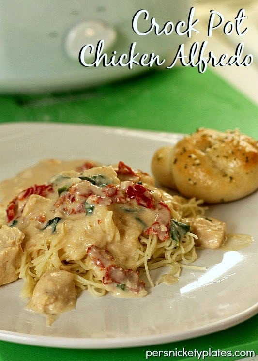 Crock Pot Chicken Alfredo