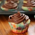 Marble Cupcakes with Chocolate Buttercream Frosting