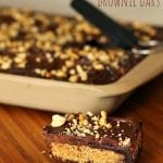 Nutter Butter Stuffed Brownie Bars