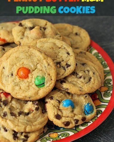 Peanut Butter M&M Pudding Cookies   Persnickety Plates