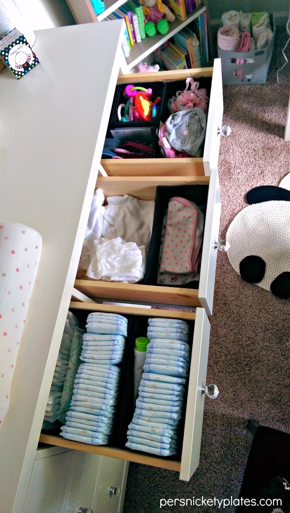 Baby Girl Room Reveal | Hemnes Drawer Organization | Persnickety Plates