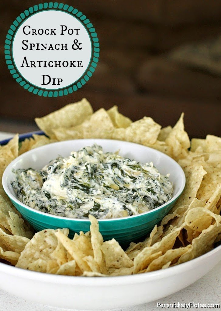 24 Tailgating Recipes You Can't Live Without! Crockpot Spinach Artichoke Dip