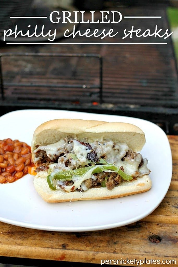 Grilled Philly Cheese Steak Sandwiches