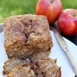 Apple Cinnamon Swirl Bread - Chunks of apple and swirls of cinnamon in this quick bread that doesn't even need a mixer! | Persnickety Plates